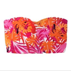 Express Pink and orange tropical Tube Top XS